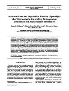 Accumulation and depuration kinetics of paralytic shellfish toxins in the ...