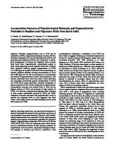 Accumulation Features of Polychlorinated ... - Semantic Scholar