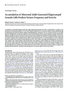 Accumulation of Abnormal Adult-Generated ... - Semantic Scholar