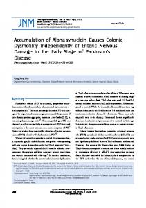 Accumulation of Alpha-synuclein Causes Colonic ... - Semantic Scholar
