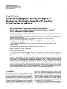 Accumulation of Exogenous Amyloid-Beta Peptide in Hippocampal ...