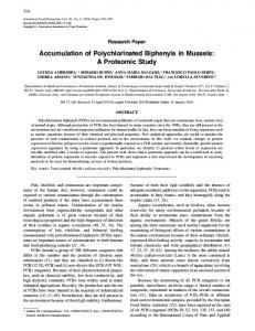 Accumulation of Polychlorinated Biphenyls in Mussels: A Proteomic ...