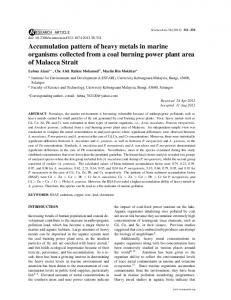 Accumulation pattern of heavy metals in marine organisms collected ...