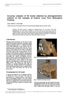 Accuracy analysis of 3D model obtained by photogrammetric method