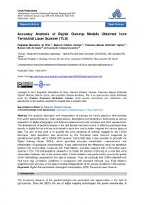 Accuracy Analysis of Digital Outcrop Models Obtained from Terrestrial ...