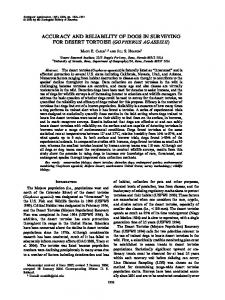 accuracy and reliability of dogs in surveying for desert tortoise