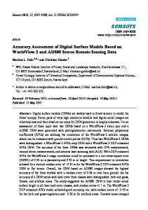 Accuracy Assessment of Digital Surface Models Based on WorldView