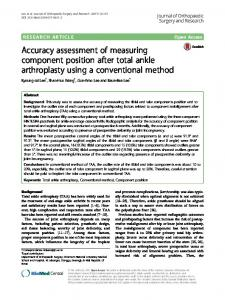 Accuracy assessment of measuring component position after total ...