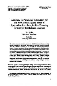 Accuracy in Parameter Estimation for the Root