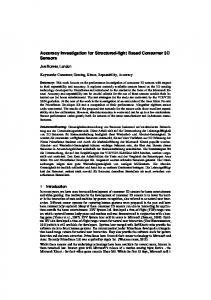 Accuracy Investigation for Structured-light Based ...