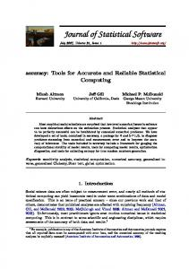 accuracy - Journal of Statistical Software