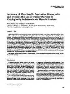 Accuracy of Fine Needle Aspiration Biopsy with ... - Semantic Scholar