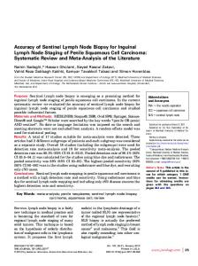 Accuracy of Sentinel Lymph Node Biopsy for Inguinal Lymph Node ...