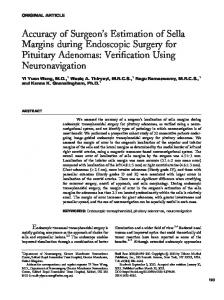 Accuracy of Surgeon's Estimation of Sella Margins