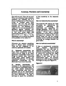 Accuracy, Precision and Uncertainty - Utah Physics