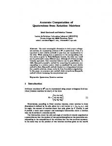 Accurate Computation of Quaternions from Rotation Matrices