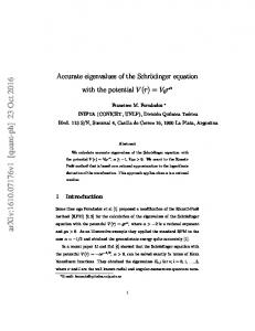 Accurate eigenvalues of the Schr\