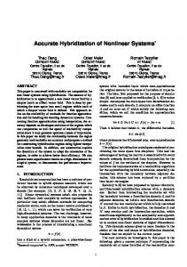 Accurate Hybridization of Nonlinear Systems - Semantic Scholar