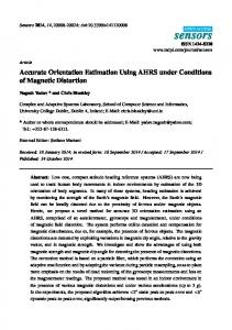 Accurate Orientation Estimation Using AHRS under Conditions - MDPI