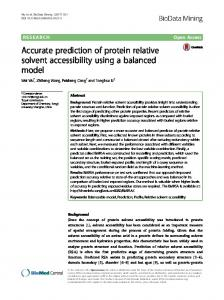 Accurate prediction of protein relative solvent accessibility ... - Core