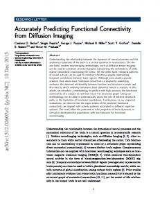 Accurately Predicting Functional Connectivity from