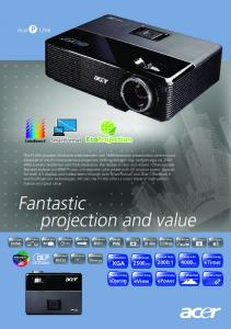 Acer P1266 DLP Projector User Guide Manual
