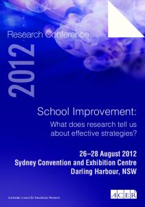ACER Research Conference Proceedings - ACER Research Repository