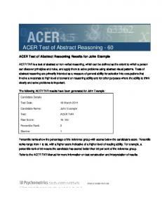 ACER Test of Abstract Reasoning - 60