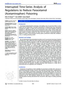 (Acetaminophen) Poisoning