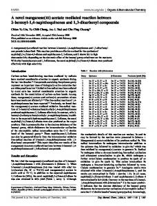 acetate mediated reaction between 2-benzoyl-1,4-naphthoquinones ...