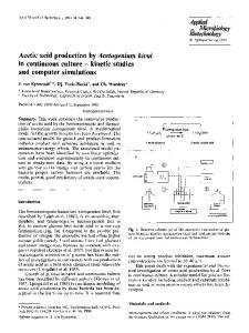 Acetic acid production by