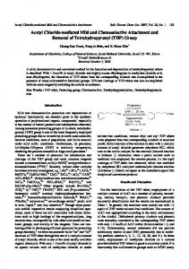 Acetyl Chloride-mediated Mild and Chemoselective ... - CiteSeerX