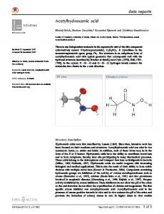 Acetylhydroxamic acid - IUCr Journals