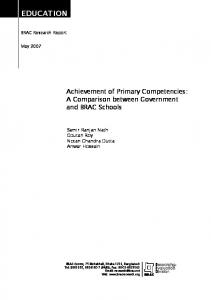 Achievement of Primary Competencies: A Comparison between ...