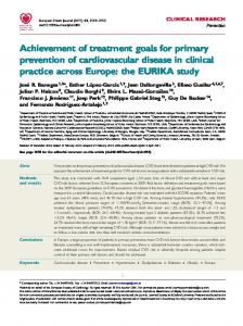 Achievement of treatment goals for primary ... - BioMedSearch