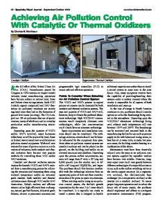 Achieving Air Pollution Control With Catalytic Or Thermal Oxidizers