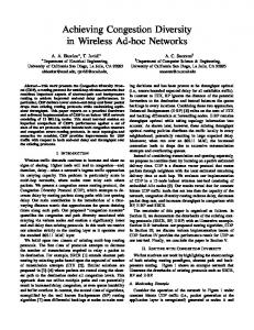 Achieving Congestion Diversity in Wireless Ad-hoc Networks