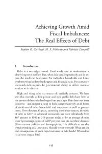 Achieving Growth Amid Fiscal Imbalances - Federal Reserve Bank of ...