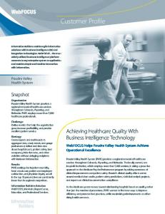 Achieving Healthcare Quality With Business Intelligence Technology