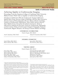 Achieving Quality in Cardiovascular Imaging - JACC
