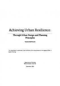 Achieving Urban Resilience