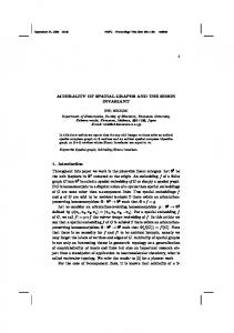 ACHIRALITY OF SPATIAL GRAPHS AND THE SIMON INVARIANT 1