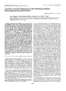Acid Base Catalytic Mechanism of the Dihydropyrimidine ...