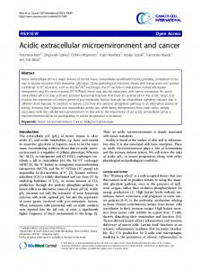 Acidic extracellular microenvironment and cancer - Cancer Cell ...