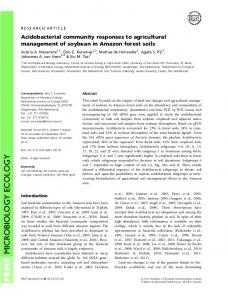 Acidobacterial community responses to ... - Wiley Online Library