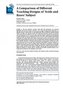 Acids and Bases - ISER Publications