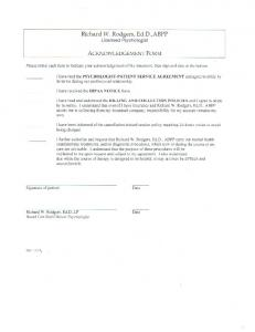 Acknowledgement Form - Richard W. Rodgers, Ed.D