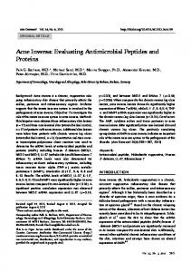 Acne Inversa: Evaluating Antimicrobial Peptides and ... - BioMedSearch