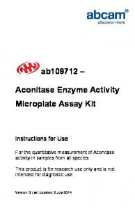 Aconitase Enzyme Activity Microplate Assay Kit