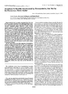 Aconitase Is Readily Inactivated by Peroxynitrite, but Not by Its ...